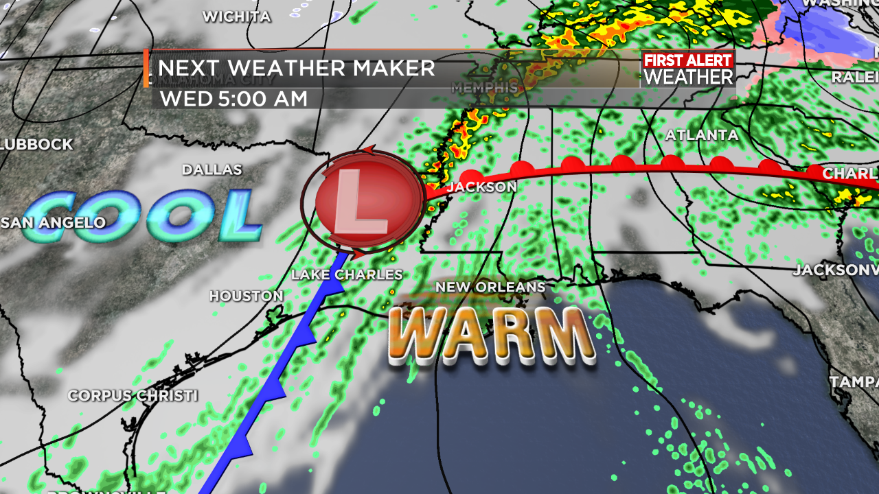 7Stormteam Weather Blog: FIRST ALERT FORECAST: Rainy most of